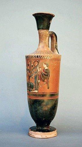 A Large Greek Black Figure Lekythos
