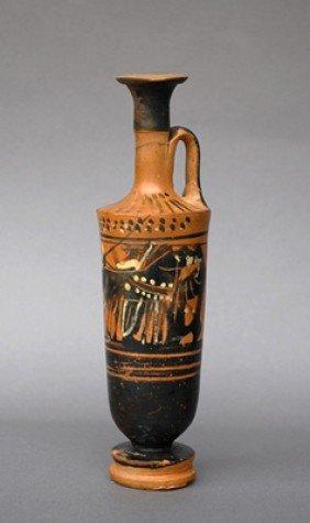 A Greek Black Figure Lekythos - Haemon Painter