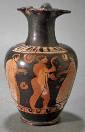 A Greek Attic Red-Figure Oinochoe