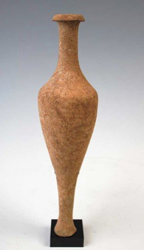A Fine Greek Pottery Spindle Vessel
