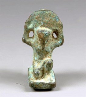 An Egyptian Bronze Amulet Of Shu, Ex-Bonham's