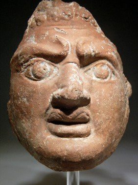 A Magnificent Roman-Egyptian Pottery Mask
