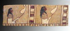 An Egyptian Wooden Sarcophagus Panel