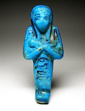 An Egyptian Blue Ushabti For Tashedkhonshu