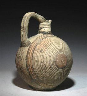 A Cypriot Bichrome Target Jug