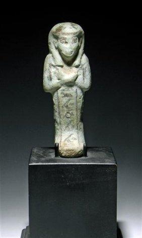 An Egyptian Glazed Faience Ushabti