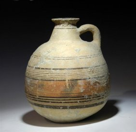 A Cypriot Banded Pottery Jug