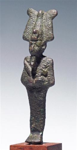 An Egyptian Bronze Figure Of Osirus, Ex-Ede