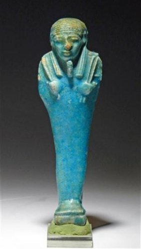 An Egyptian 26th Dynastic Faience Ushabti