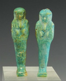 A Pair Of Egyptian Late Dynastic Ushabtis