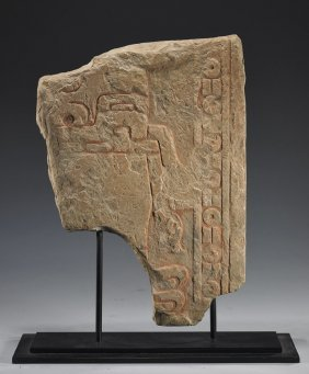 A Rare Chavin Stone Stele Section - Published!