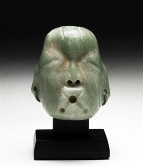 A Pre-Columbian Olmec Jade Maskette
