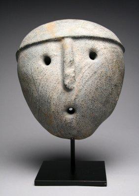 A Rare Aguada Stone Mask