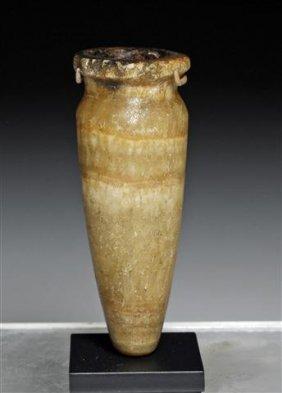 An Egyptian Alabaster Cosmetic Jar