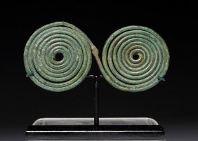 A Greek Bronze Spiral Pin