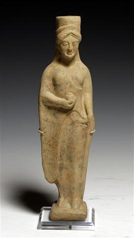 An Ancient Greek Archaic Kore Statuette