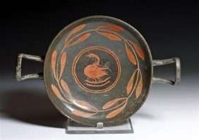 A Greek South Italic Kylix - Incised /  Painted!