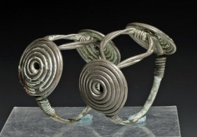 A Pair Of Thracian Silver Bracelets