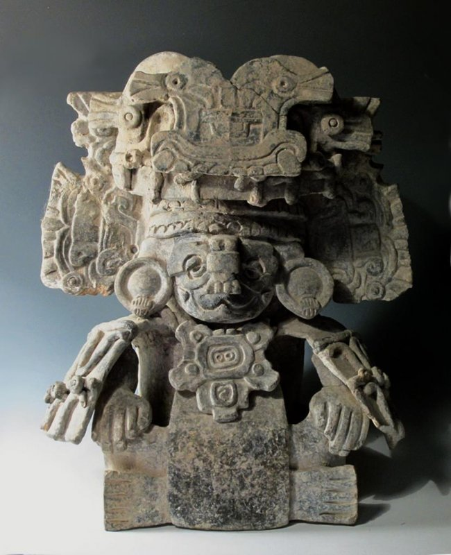 Zapotec figural urn seated god ex sotheby s lot