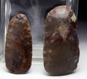 Lot Of 2 Neolithic Stone Biface Axes