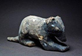 Egyptian Wood Figure Of A Shrewmouse