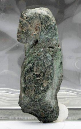 Egyptian Schist Osiris Figure