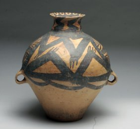 Chinese Neolithic Two Handled Jar