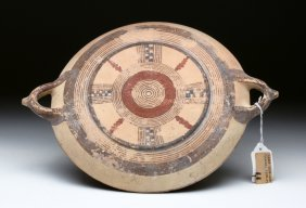 Cypriot Pottery Platter - Early Iron Age