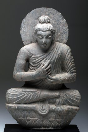 Superb Gandharan Schist Teaching Bodhisattva