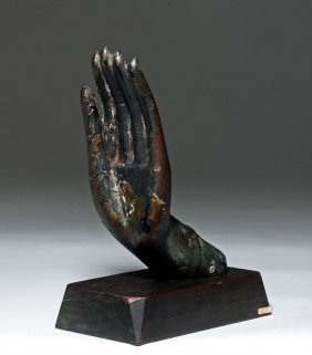 Large Thai Bronze Buddha Hand