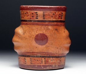 Mayan Ulua Valley Cylinder In Gourd Form