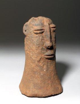 Heavy Bura Asinda-sikka Terracotta Phallic Urn Head