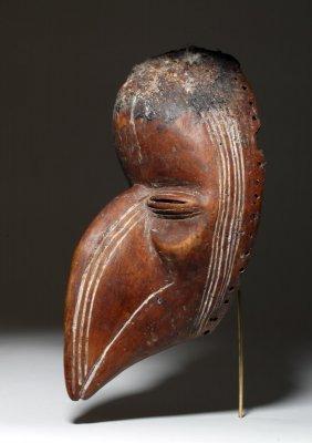 African Dan Carved Wood Bird Mask, Ex-arnovick