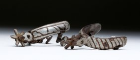 20th C. Mexican Iron / Silver Child's Spurs Ex-historia