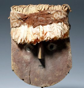 Superb Chancay Wood Mummy Mask