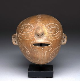 Jamacoaque Incised Head Sculpture / Mask, Ex-arnovick