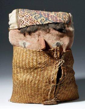 Chancay Mummy Mask / Textile Bundle
