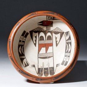 20th C. Hopi Thunderbird Bowl - Anita Polacca