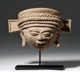 Vera Cruz Terractotta Head Of A Shaman