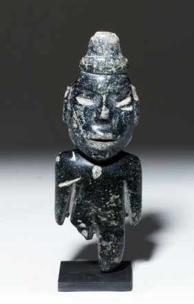 Ancient Teotihuacan Carved Stone Figure