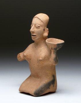 Jalisco Terracotta Kneeling Female Figure