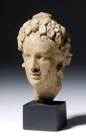 Greek Terracotta Goddess Protome Head