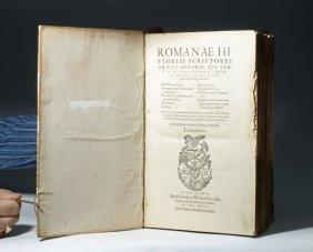 Romanae Historiae Scriptores Graeci Minores - 1590 Book