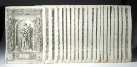 17th C. German Engravings By D. Custodis (set Of 21)