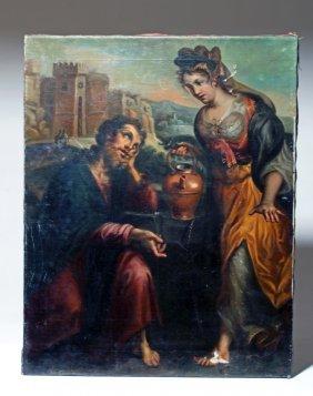 18th C. European Painting - David And Bathsheba