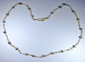 Fine Ancient Roman Gold / Roman Glass Bead Necklace