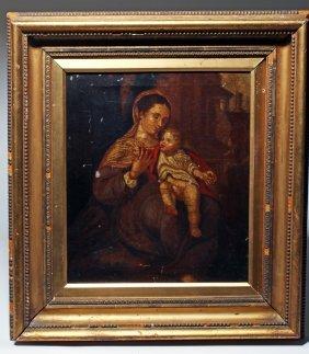 17th / 18th C. Madonna & Child Painting After Correggio