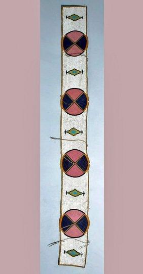 Native American Indian Beaded Blanket Strip