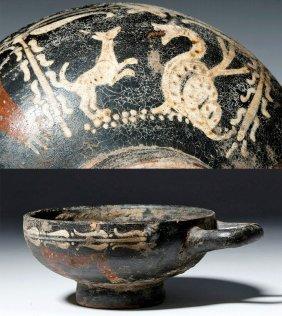 Greek Attic Kyathos with Animal Decorations