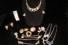 Assorted Mixed 1930's-40's Rhinestone Jewelry